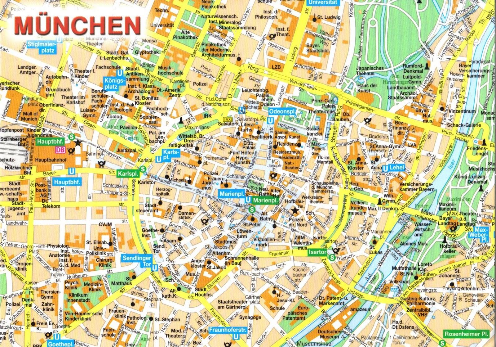munique mapa Munique   Alemanha   Publicado dia 23/12/2015 no blog Um dia em munique mapa