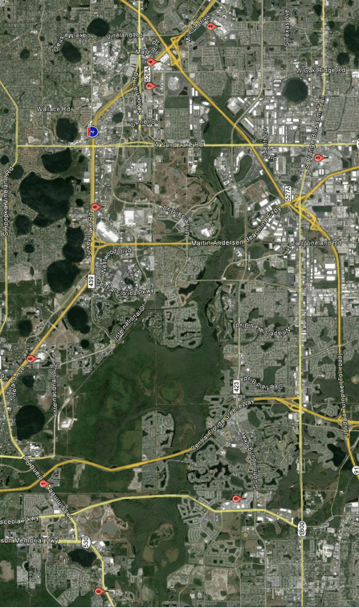 mapas dos outlets de orlando - blog um dia em