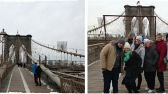 Foto de NY - 7° dia (Brooklyn Bridge, Loja Century21, Prédio Friends)